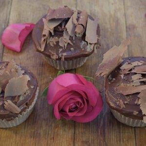 dark ganache cupcakes